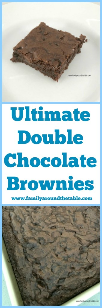 Grab a glass of milk. Ultimate double chocolate brownies are a chocolate lovers dream come true.