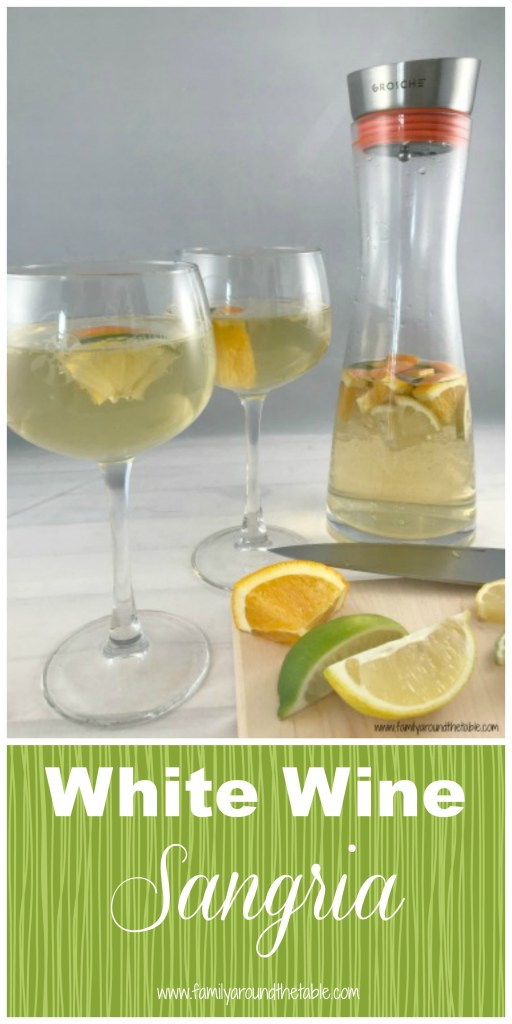 White wine sangria is a refreshing and easy addition to any brunch spread. #EasterBrunchWeek #ad #everycupfillsanother