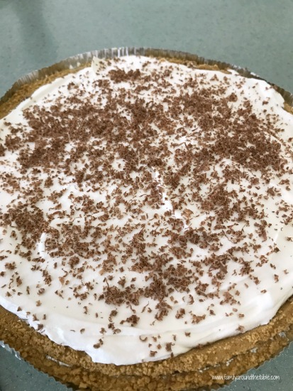 No Bake Double Layer Pudding Pie