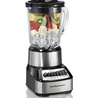Hamilton Beach Wave Crusher Blender, with with 14 Functions and 40oz Glass Jar, Stainless Steel