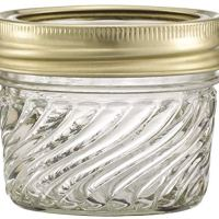 Glass Jelly Jars with Lids and Bands, Set of 12 (4 Oz) - Regular Mouth