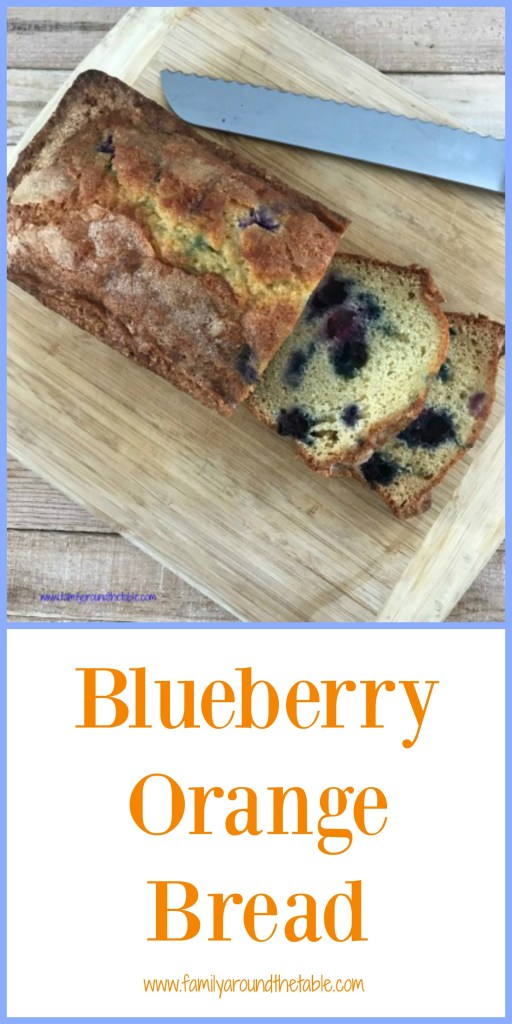 Blueberry orange bread is an easy quick bread to make for breakfast or snacks. #BlueberryWeek