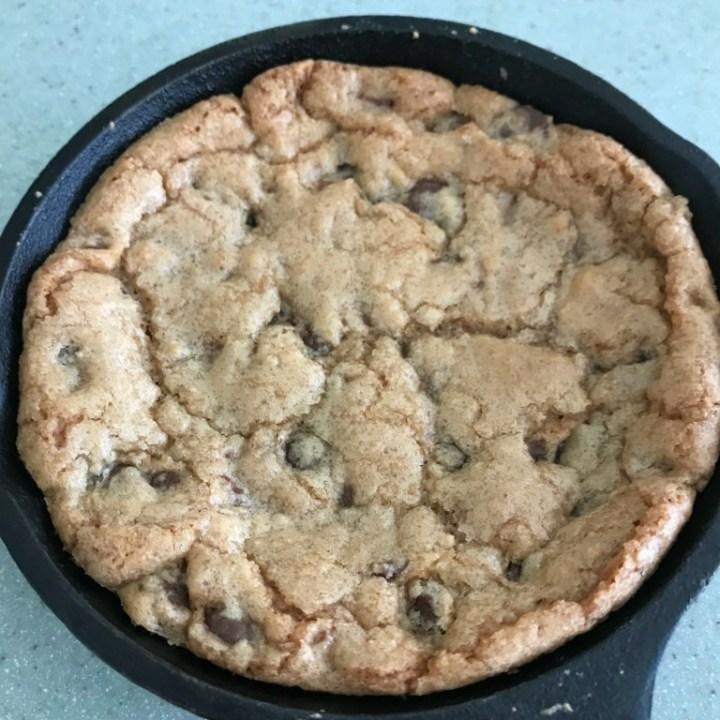 Individual Skillet Chocolate Chip Cookies
