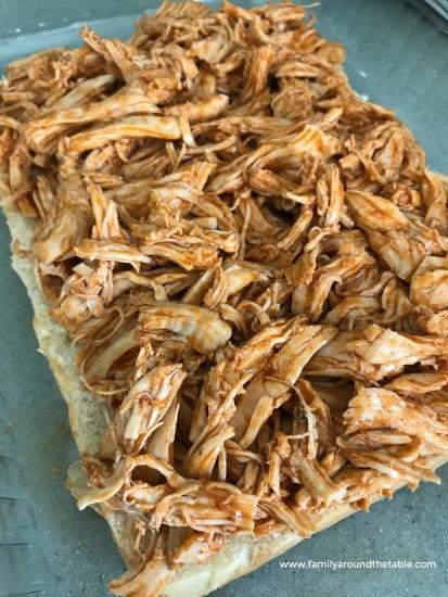 Buffalo chicken on slider buns.