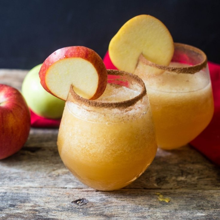 Caramel Apple Cider Vodka Slush Cocktail