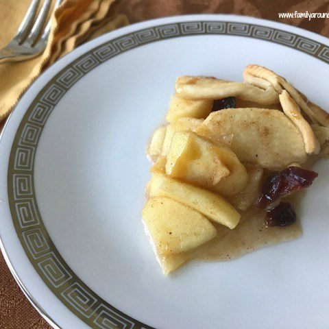 Apple Cranberry Galette with Caramel Drizzle