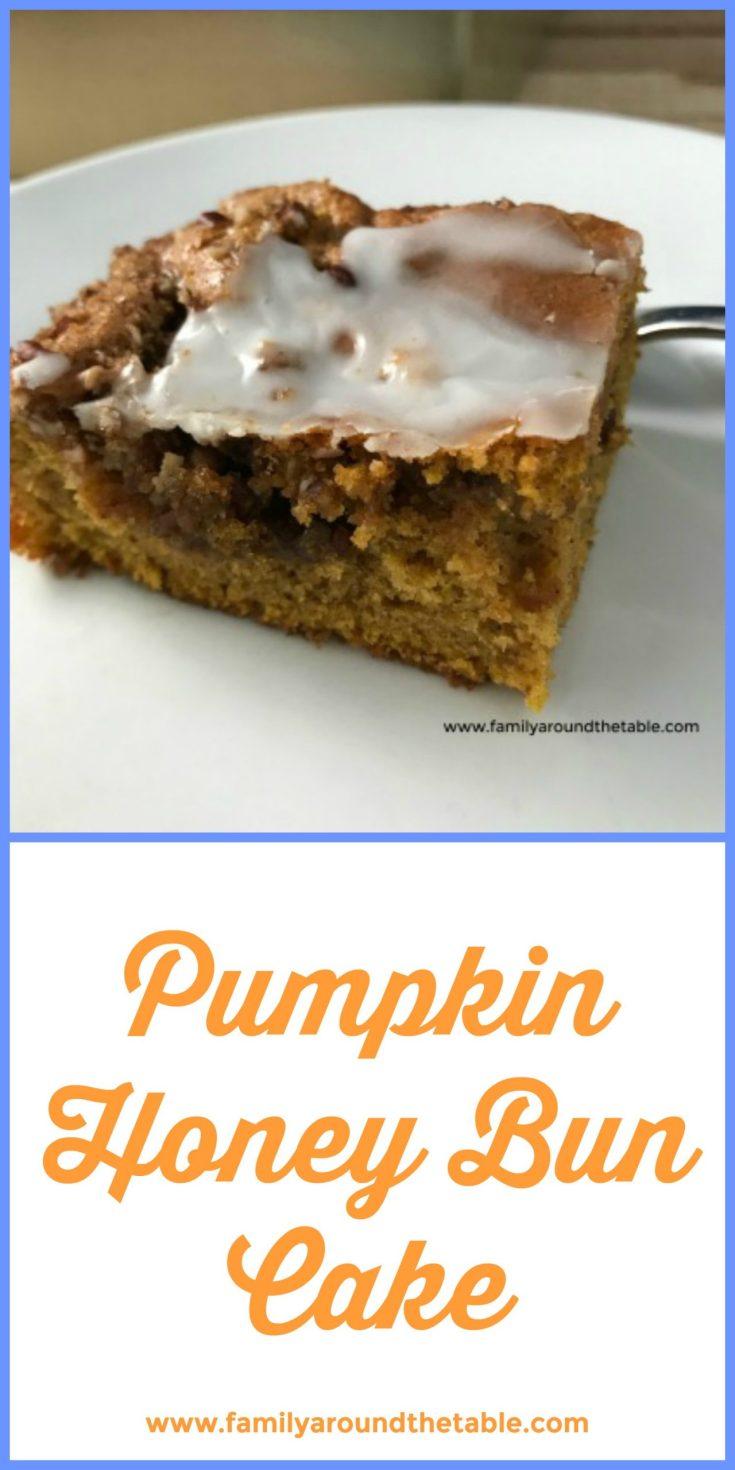 Pumpkin honey bun cake is a fall twist on a classic favorite dessert. #PumpkinWeek