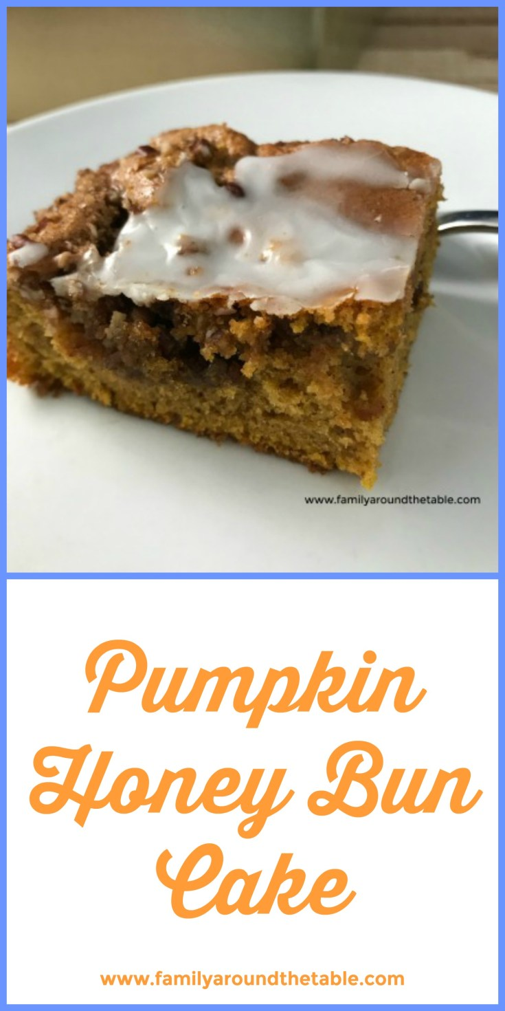 Pumpkin honey bun cake is a fall twist on a classic favorite dessert. #PumpkinWeek