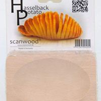 Scanwood Beechwood Swedish Hasselback Potato Cutting Board