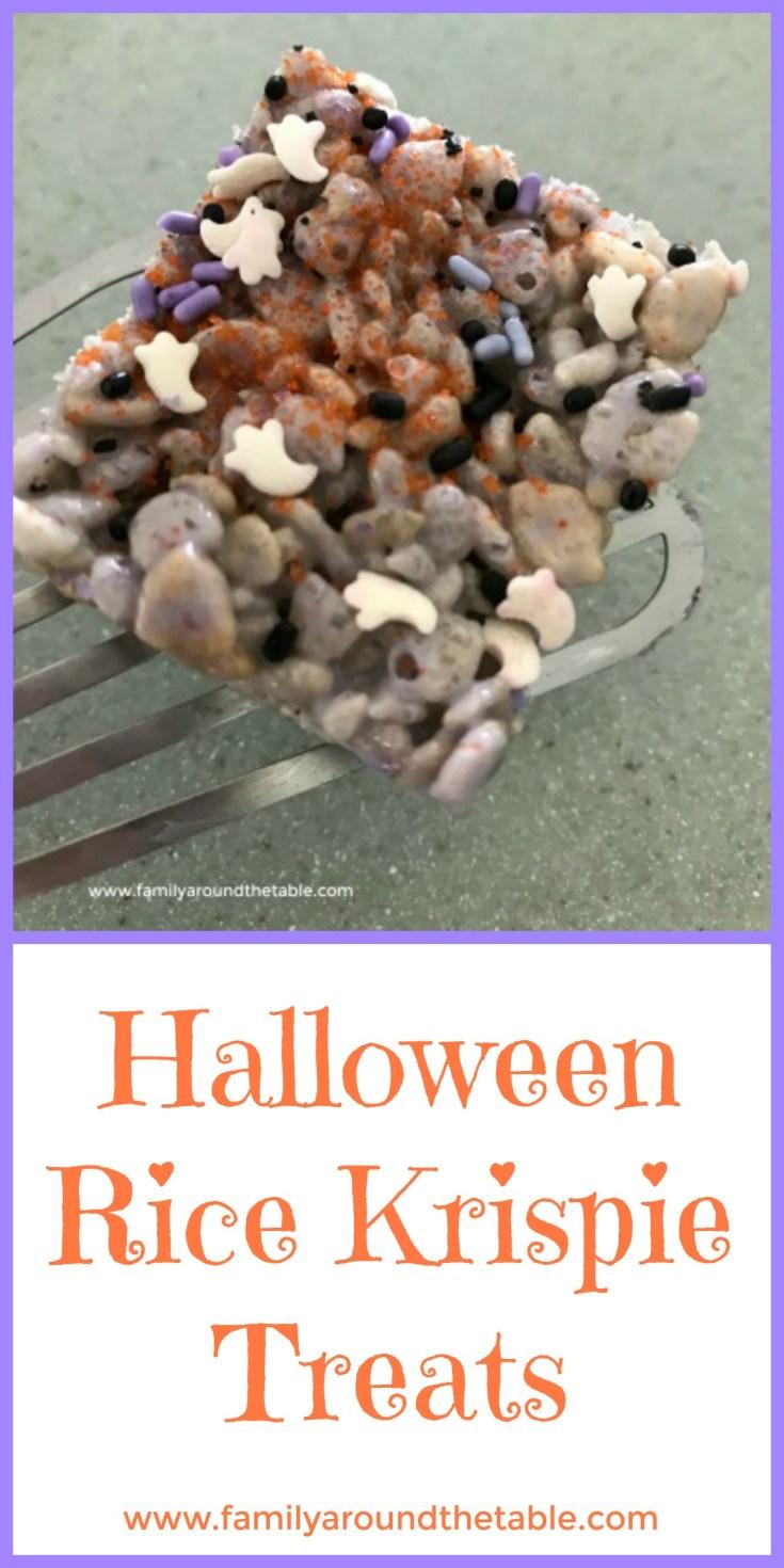No tricks with these Halloween Rice Krispie treats.