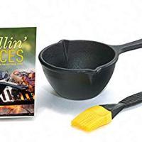 Lodge Grilling Sauces Kit with Melting Pot, Basting Brush, Recipe Booklet