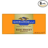 Ghirardelli Chocolate Baking Bar, Semi-Sweet Chocolate, 4-Ounce Bars (Pack of 6)