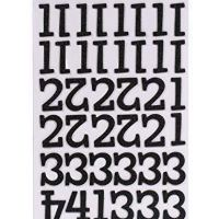 American Crafts Thickers Glitter Chipboard Numbers Stickers, Sprinkles Black
