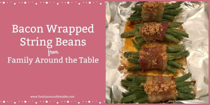 Bacon Wrapped String Beans are an alternative to a green bean casserole for the holidays.