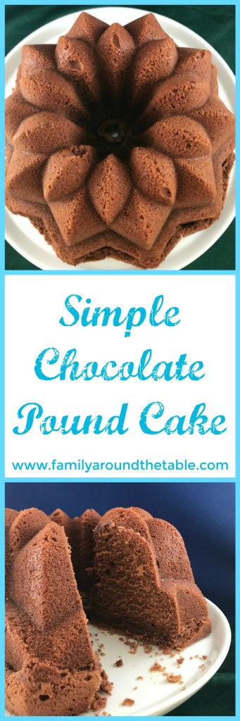 Simple chocolate pound cake is perfect for a dessert buffet.