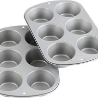 Wilton Recipe Right Non-Stick 6 Cup Jumbo Muffin Pan, Multipack of 2