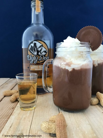 Peanut butter whiskey takes hot chocolate to the next level.