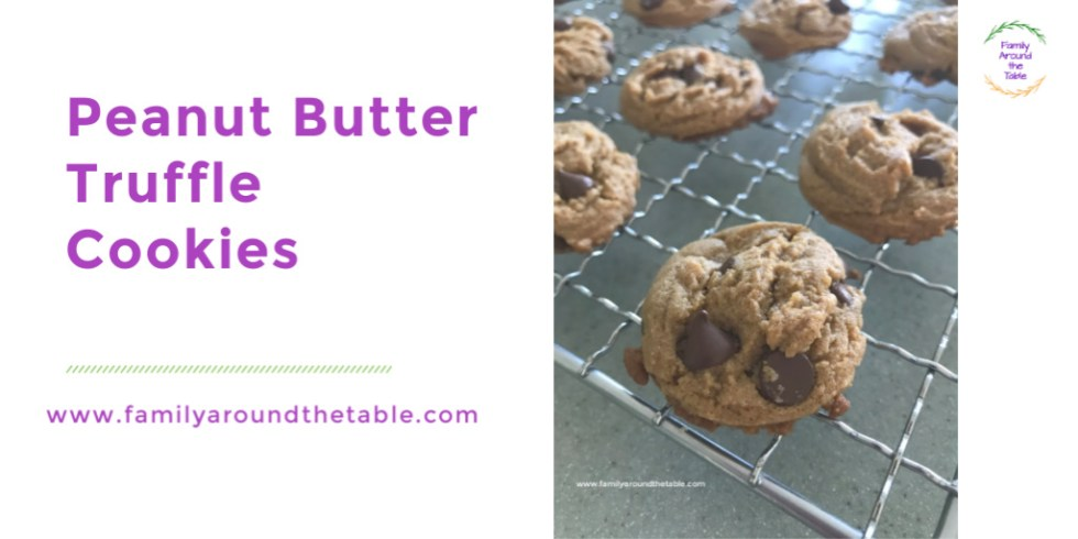 Peanut Butter Truffle Cookies come together quickly for a sweet treat on a moments notice.