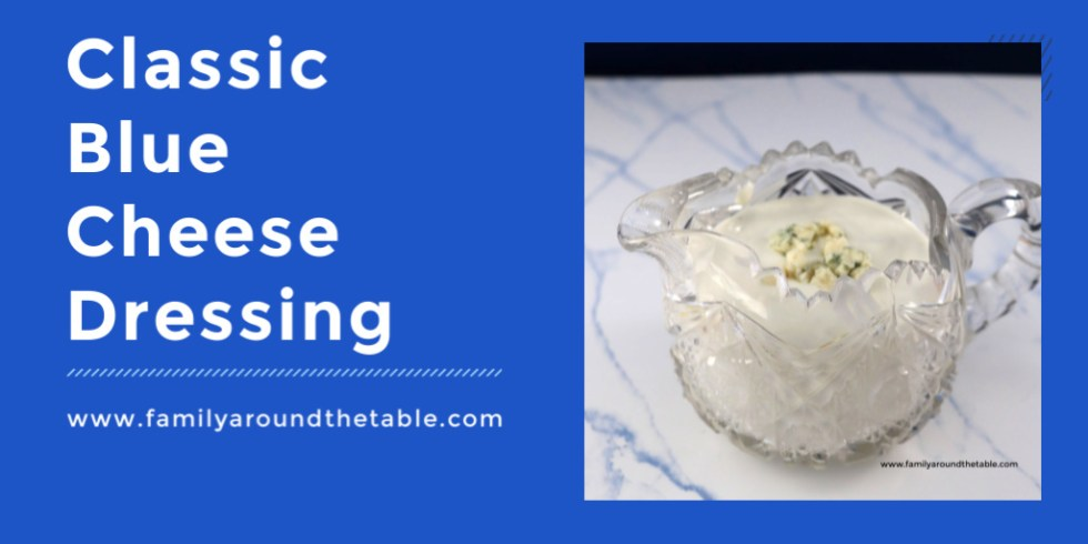 Make classic blue cheese dressing at home and save money.