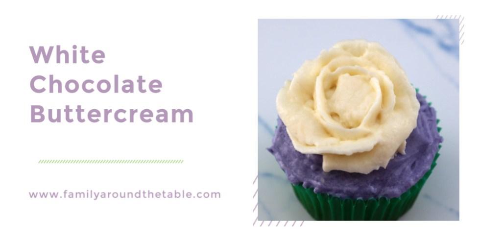 White chocolate buttercream Twitter image.