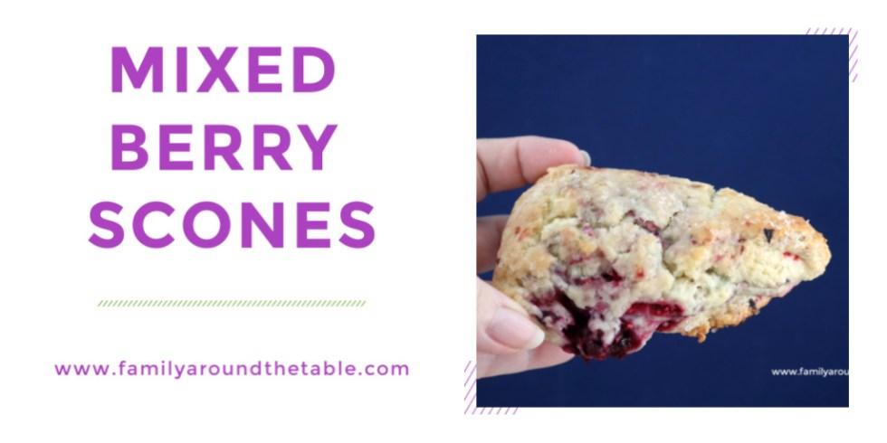 Mixed berry scones twitter image.