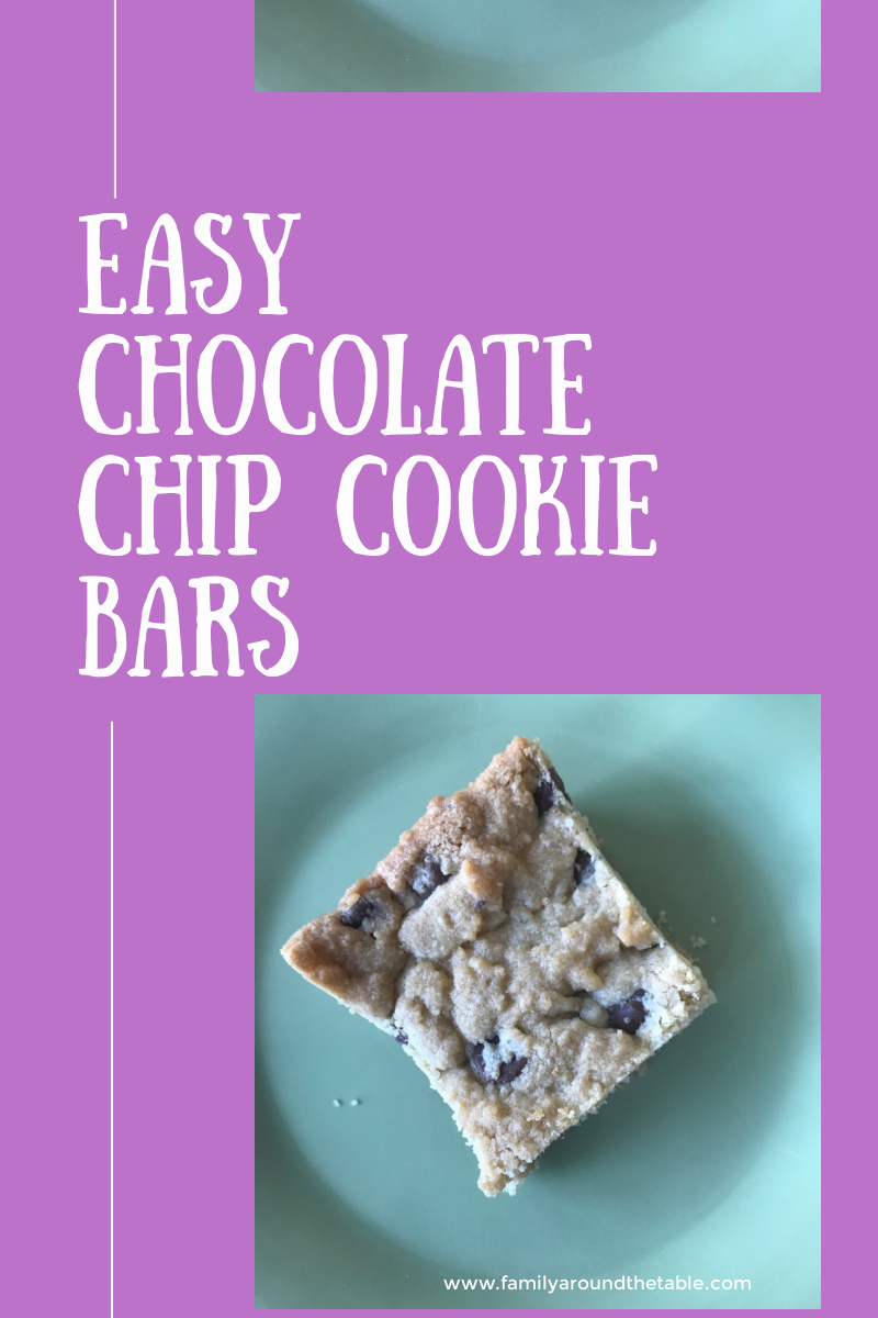 Easy Chocolate Chip Cookie Bars Pinterest Image