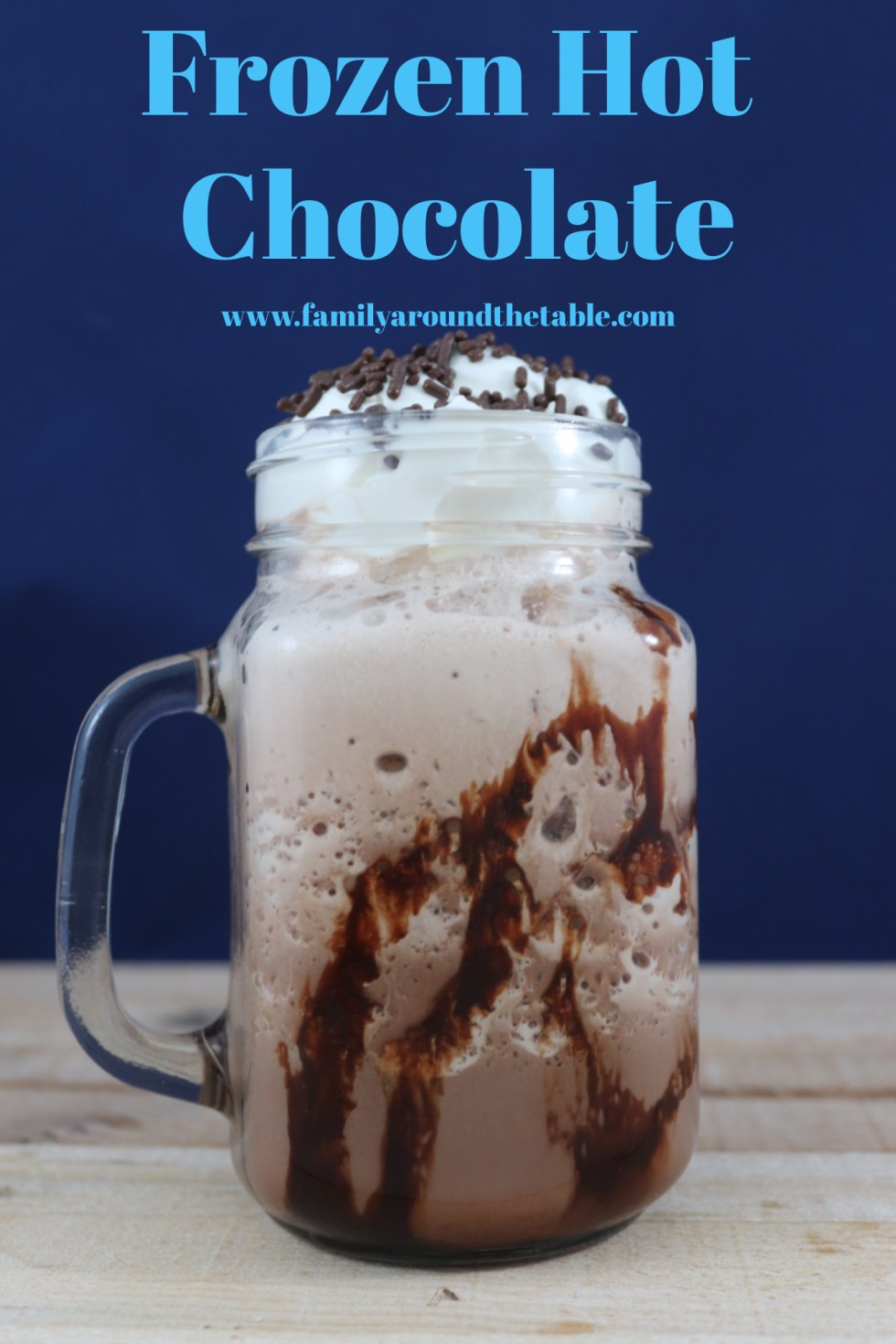 Frozen hot chocolate Pinterest image.