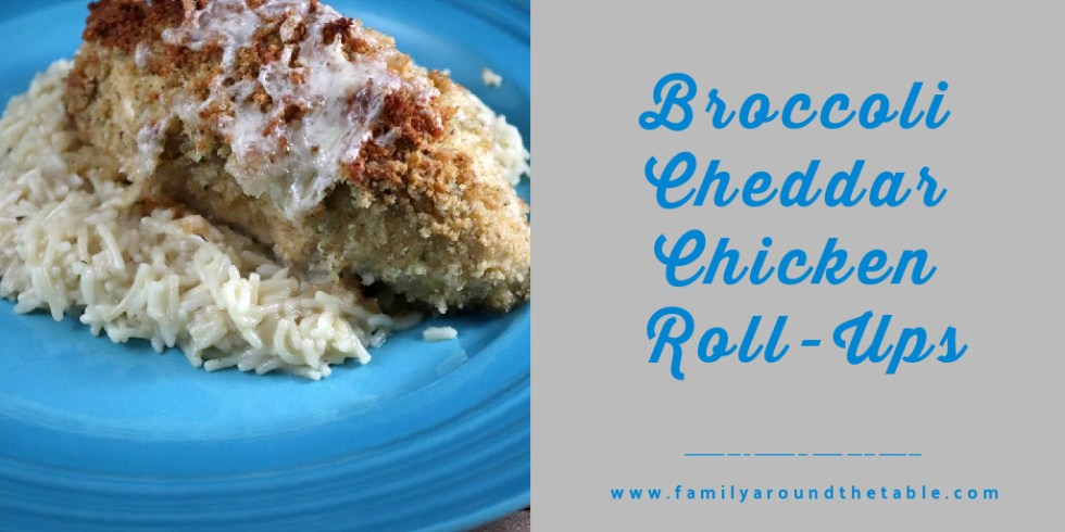 Broccoli and Cheddar chicken roll-up Twitter image.