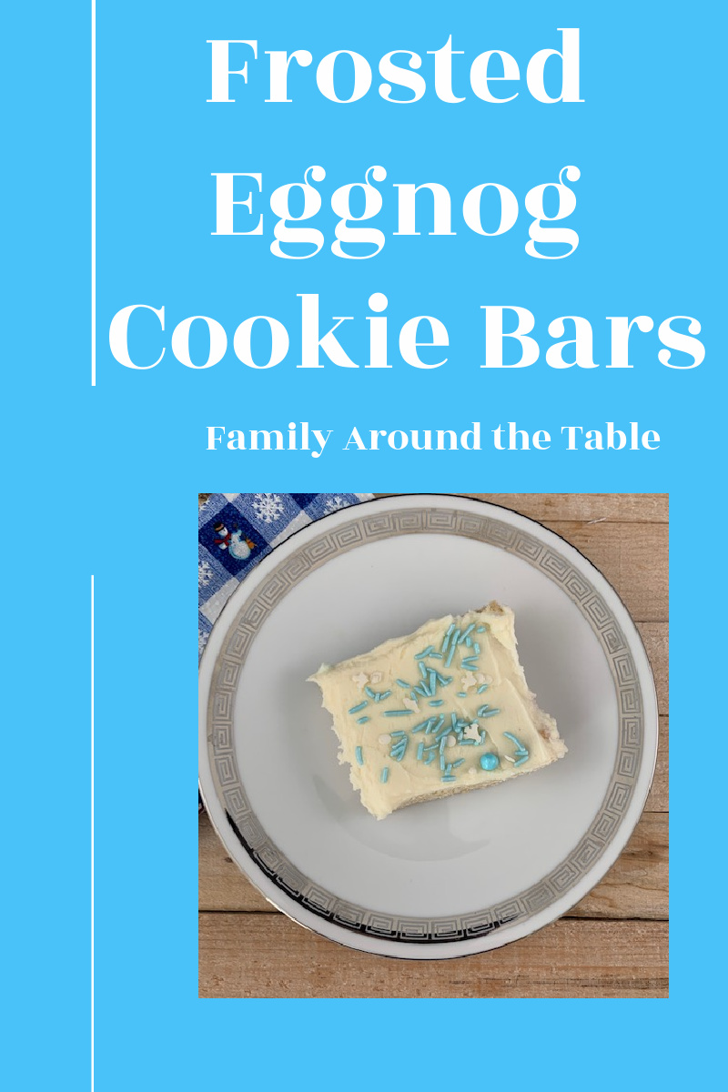 Frosted Eggnog Cookie Bars Pin