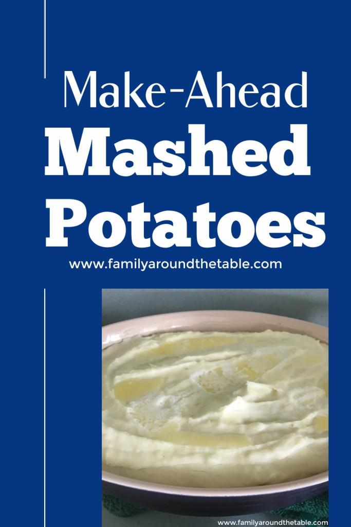 Make ahead mashed potatoes Pinterest image.