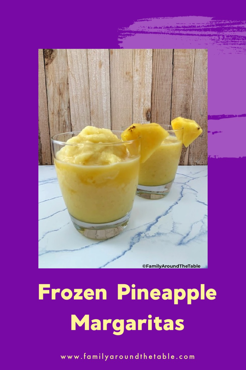 Frozen Pineapple Margaritas Pinterest image.