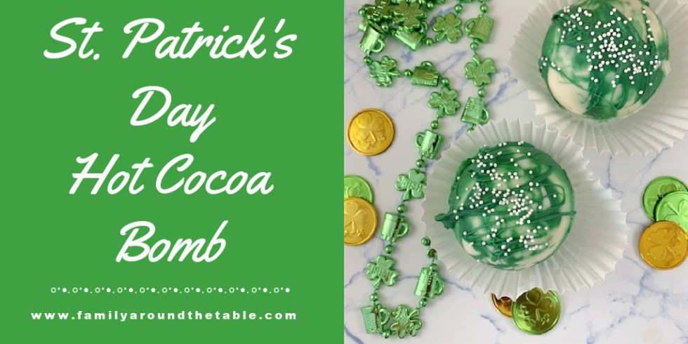 St. Patrick's Day cocoa bomb Twitter image.