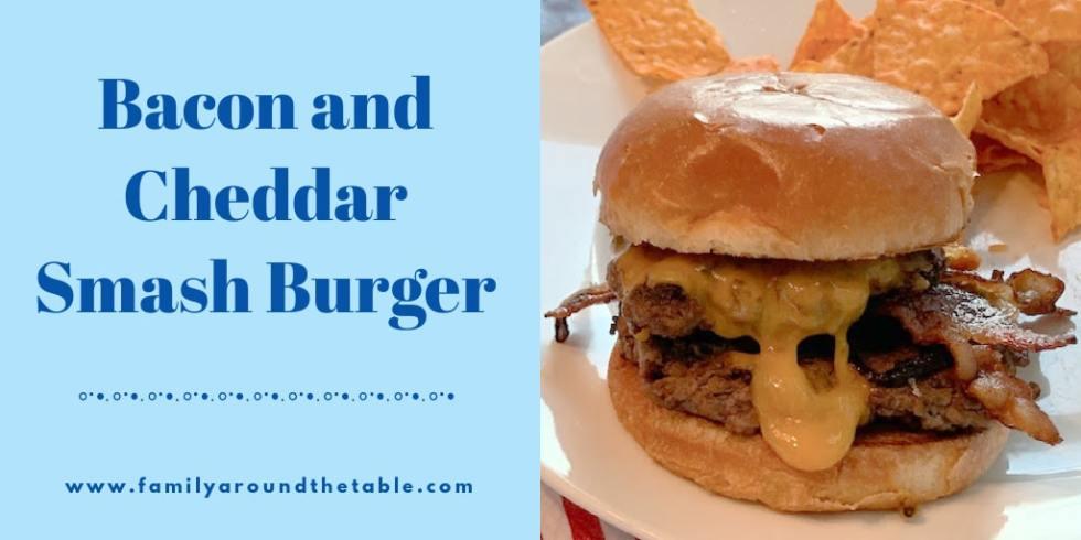 Bacon Cheddar Smash Burger Twitter Image
