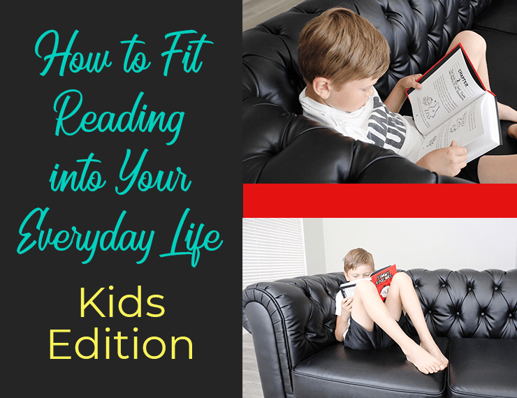 As parents, we want our kids to love reading and choose books over video games, right? But it's hard. REALLY hard. Here are three of my best tips for helping kids fit reading into their everyday life--and actually enjoy it!