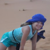 Playing in the dunes