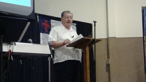 George Faull preaching the Gospel!