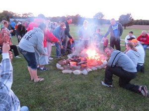 Campfire to start the camp meeting off!