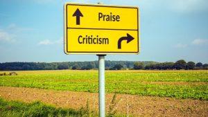 praise - criticism