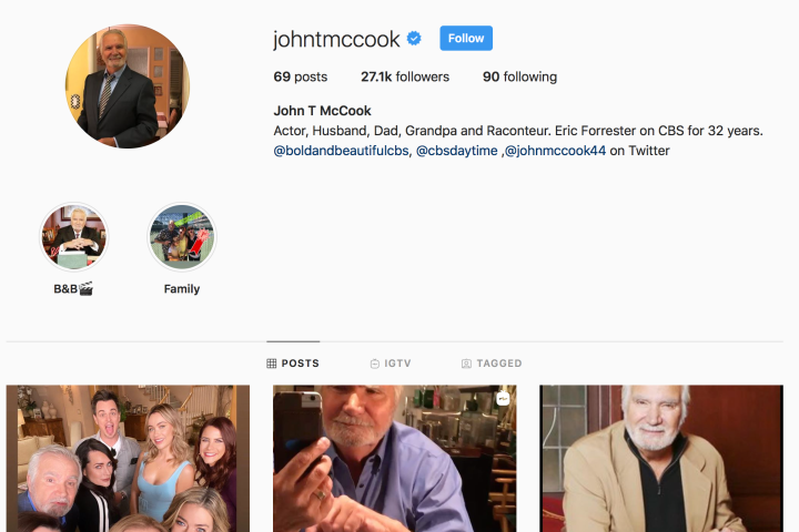 John McCook on Istagram