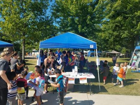 2018 Family Connections gives free books away at the Sheboygan Farmers Market