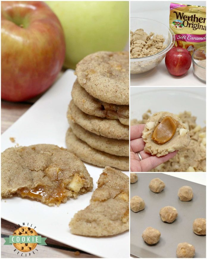 Step-by-step photos and instructions on how to make Caramel Apple Snickerdoodles.