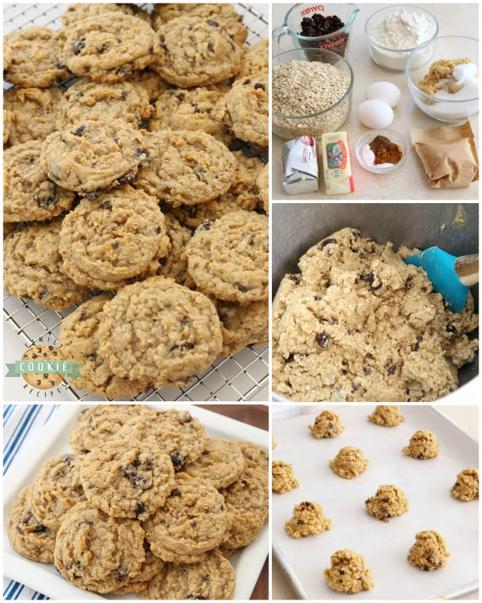 Oatmeal Raisin Cookies that truly are the BEST EVER! Oatmeal, raisins, pudding mix & spices combine in most delicious, soft & chewy Oatmeal Raisin Cookies.