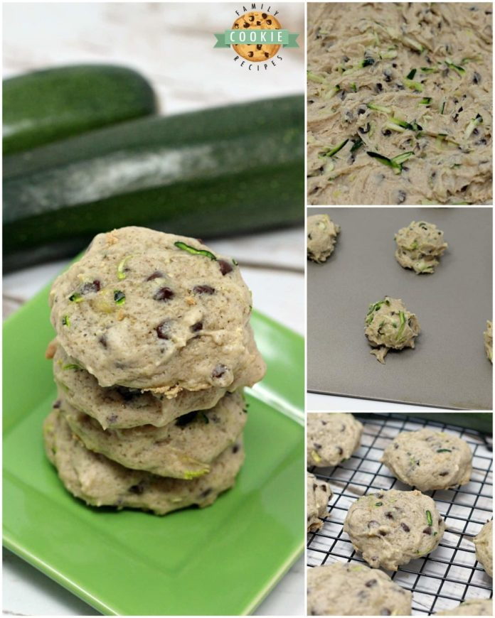Step-by-step photos and instructions on how to make Zucchini Chocolate Chip Cookies.