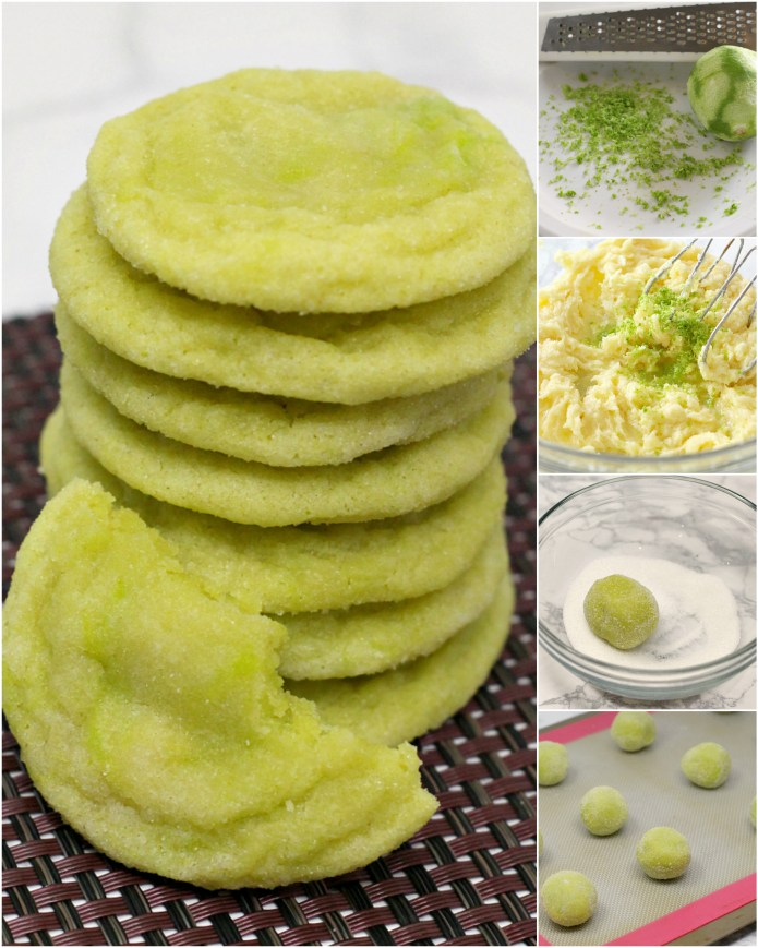 Lime Sugar Cookies are soft, delicious and packed with lime flavor! This cookie recipe is so simple and everyone loves these sugar cookies with a fun little twist of lime!