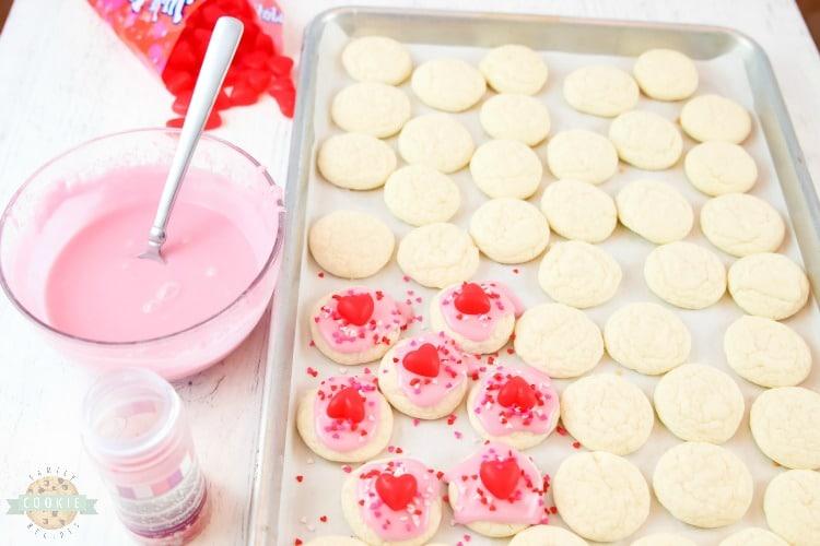 Valentines Cake Mix Cookies