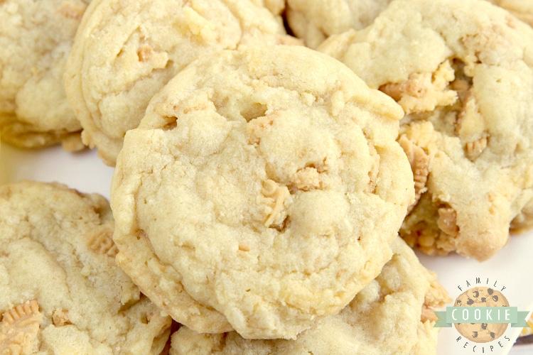 Lemon pudding cookies with crushed up Lemon Oreos