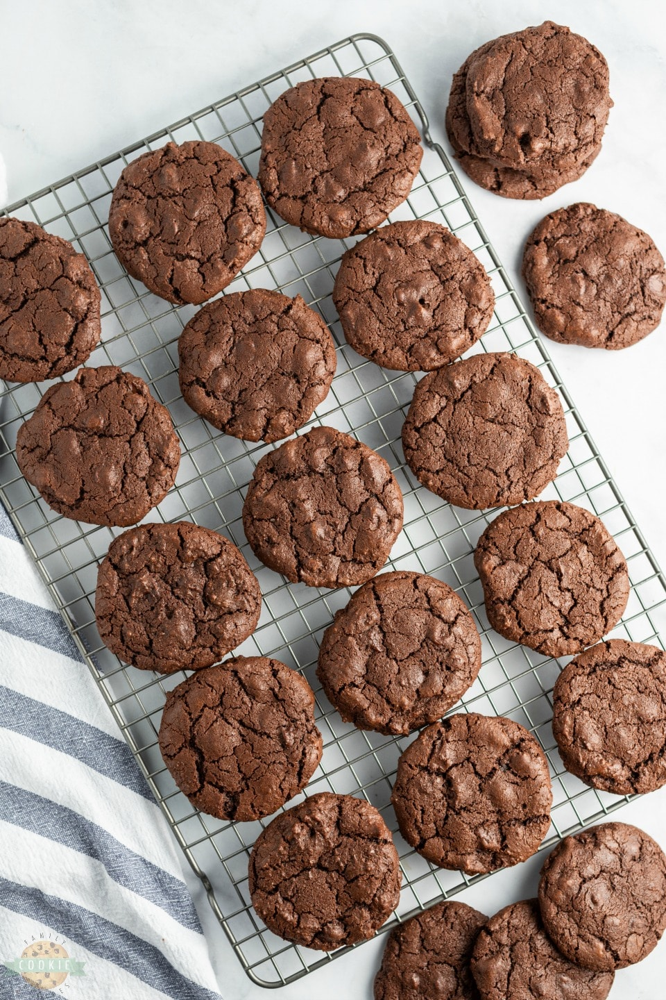 Double Chocolate Chip Cookies made with twice the chocolate for the ultimate chocolate chip cookie! Soft chewy cookies with fantastic chocolate flavor for those who LOVE chocolate!