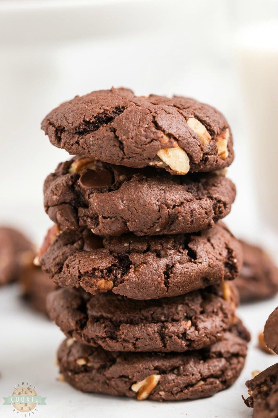 how to make Chocolate Cake Mix Cookies
