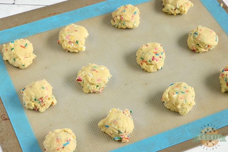 Cookies with sprinkles in them