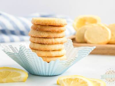 Lemon Slice and Bake Shortbread Cookies